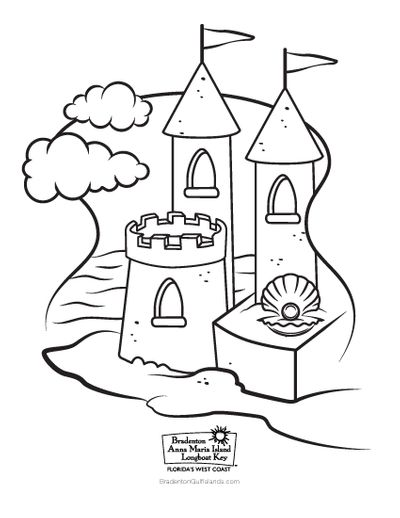 BACVB Coloring Sheet Beach Castle
