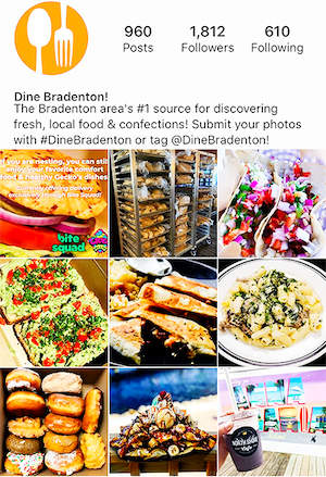 Screenshot of Dine bradenton instagram